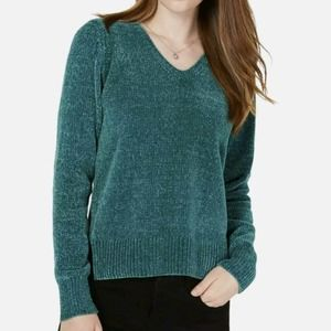 Maison Jules red chenille Sweater